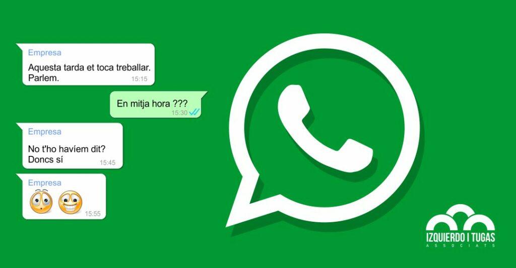 Whatsapp en la empresa no - Izquierdo i Tugas Associats - Assessoria Gavà - GESTORIA IZQUIERDO