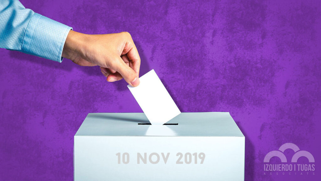 Eleccions Congrés i Senat Novembre 2019 - Izquierdo i Tugas Associats - Gestoría Izquierdo en Gavà
