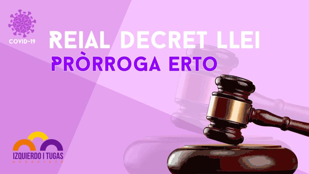 Izquierdo i Tugas Associats - Gestoria Izquierdo - Mayo-2020 - Prórroga Erto
